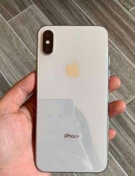 Iphone X silver colour 64gb
