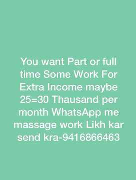 Job par time full time as u wish