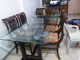 Dining table with chairs hard wood