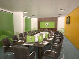 Fully furnished office space for rent  at Cunningham road  2660 sq ft