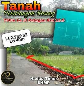 PEKARANGAN KOSONG Lt 2235 m Ld 40m.Timur SMA 1 Ngaglik Jl Palagan Km13