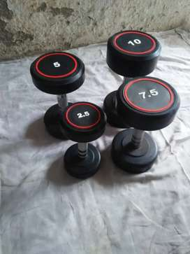 110 rs per kg- Gym Dumbbells And Plates Available