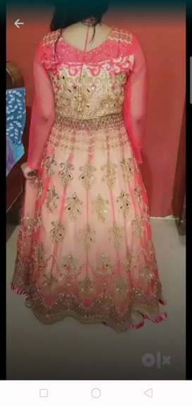 Pink colour beautiful gown