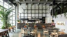 Pembuatan Cafe Jogja,Cafe Industrial Modern