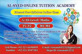 Online Tuitions(TUTORS) for IB  maths and IAL /IGCS MATHS