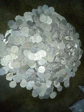500 Old 10 paise aluminium coins