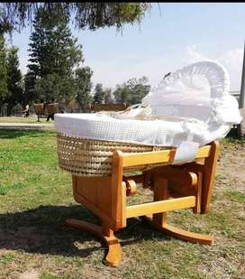 Mother care moses basket with wooden craddle