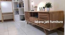 Bufet tv bahan kayu jati meja klassic material jati