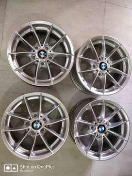 Four GENUINE BMW 16 ALLOY WHEEL