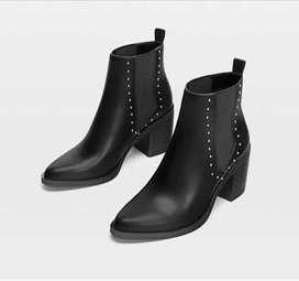 Boots kulit stradi 38 baru
