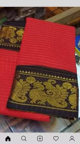 Cotton sungadi Hotred brand new saree