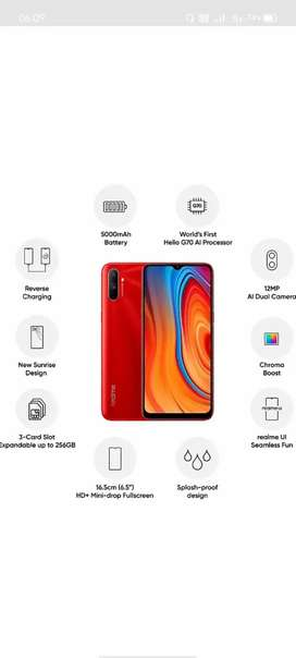 Realme c3  4/64 4 month old best condition
