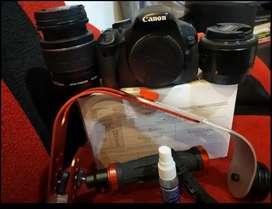 Kamera DSLR Canon 600D plus lensa Yongnuo
