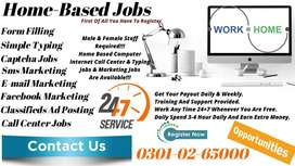 Students, house wife  Home Based JObs