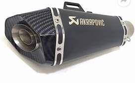 AKRAPOVIC exhaust with extended rod. Brand new