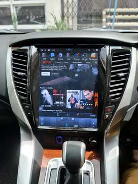 Headunit Pajero Tesla Android 12 Inci Mirai Voice Command