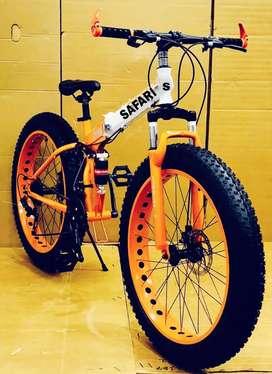 M. B 21 SHIMANO GEARS FAT TYRE FOLDING BICYCLE