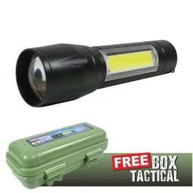 Senter SWAT Police LED Camping Mini bisa Zoom Cas Outdoor Murah