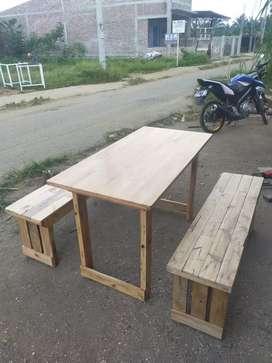 Kursi meja warkop cafe kayu