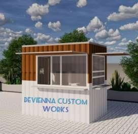 Container cafe booth usaha booth dagang Container coffee shop,,