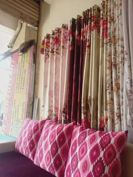 Curtains and wallpaper