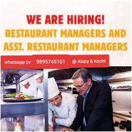 Hiring Restaurant Mangers & Assitant Mgr
