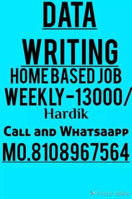 Simple hand writing work