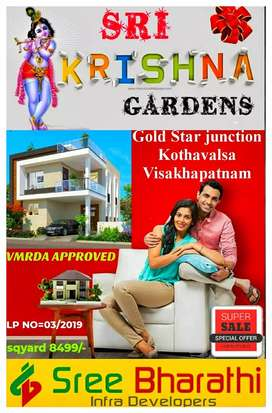 VMRDA APPROVED GATED community housing project, Ready to construction