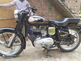 Bullet royal Enfield 1975 modal good condition wheel pye hoie a