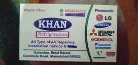 A.C repairing fitting maintenance service
