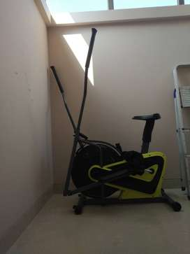Cross Trainer and stationery cycle