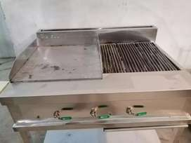 Hot plate with grill saiz 2by4 stainless steel fastfood pizza oven