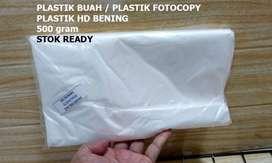 Plastik Buah / Plastik Fotocopy / Plastik HD Bening 500 Gram / COD