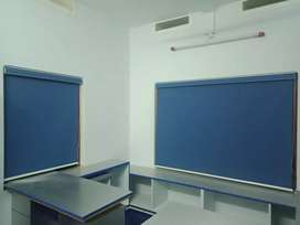 Roller blinds (curtains)for windows:manufacture