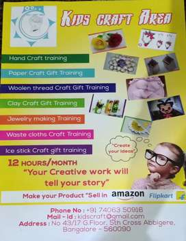 Need tutors and  admin for Kids Craft Training & Tuition Academy