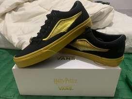 Sepatu Vans X Harry Potter Black Gold Old School
