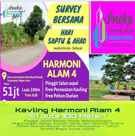 Kavling Ready Stock Harmoni Alam 4 Legalitas Aman GRATIS KEBUN DURIAN