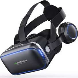 Shinecon 6.0 VR Box Virtual Reality Glasses dengan Headphone - Black