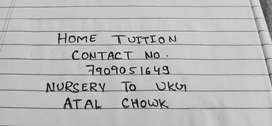 Home tuition, Nursery to UKG