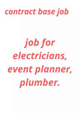 Job for electricians  and plumber