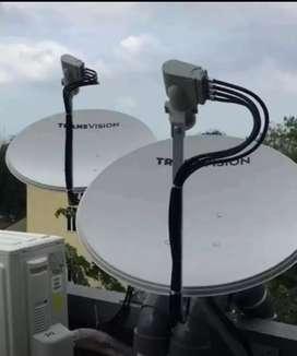 Pasang baru Transvision HD Tarakan nonton puas gambar jernih