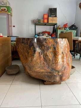 Batu alam meja batu
