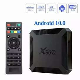 Android 10 X96Q 2/16 android smart tv box 2020 model 1 year waranty