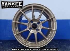Free Onkir Velg Mobil Lancer Ring 15 HSR Wheel POOL GOLD