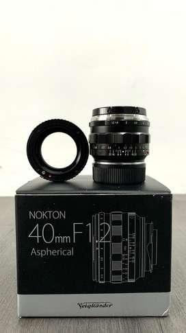 Voigtlander 40mm F1.2 Nokton