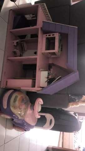 Rumah barbie dan mobil barbie