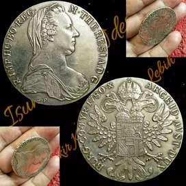 Koin Langka 1 Thaler MARIA THERESIA 1780 stok cuma 1