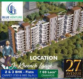 At Bavdhan   Large 3BHK Home at Rs.82 lac only