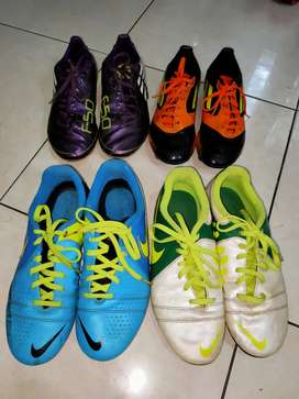 Sepatu Bola Junior/Kids merk NIKE & ADIDAS, Size: 36.5 (Insole 23.5cm)