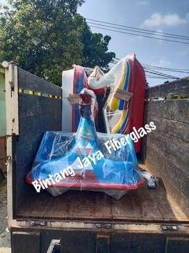 sepeda air fiberglass pelikan,sepeda air pelikan baru,perahu bebek
